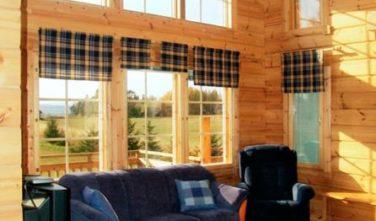 Dřevostavba z masivu ALPI interiér
