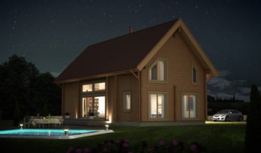 Srubový dům Apertus VIS 161