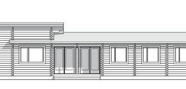 Dřevostavby model CORALLINA nákres