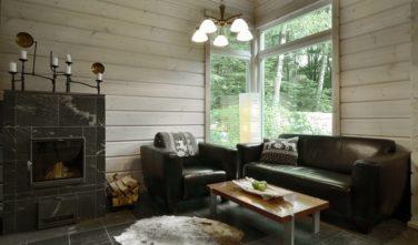 Dřevostavba z masivu Fortunella interiér