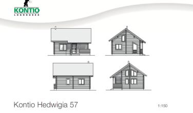 Dřevostavba z masivu HEDWIGIA 57 2D model