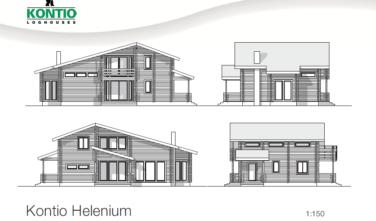 Dřevostavba z masivu HELENIUM 2D model