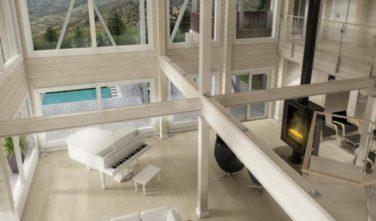 Dřevostavba z masivu LAMINARIA 3 interiér