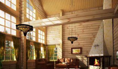 Dřevostavba z masivu LINARIA interiér