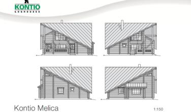 Dřevostavba z masivu MELICA 2D model
