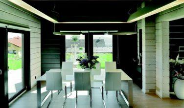 Dřevostavba z masivu MONARDA interiér