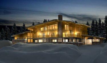 Srubový dům MOUNTAIN SKI HOUSE exteriér