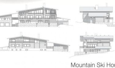 Dřevostavba z masivu MOUNTAIN SKI HOUSE nákres