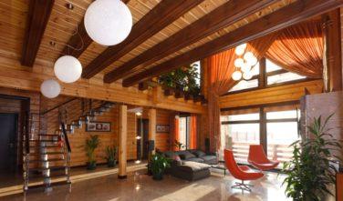 Dřevostavba z masivu MYRICA interiér