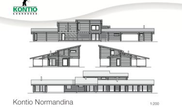 Dřevostavba z masivu NORMANDINA 2D model