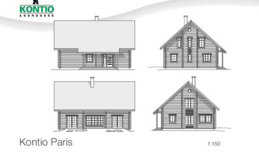 Dřevostavba z masivu PARIS 2D model
