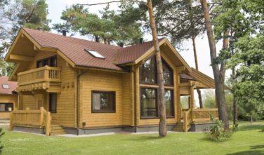 Dřevostavba z masivu RIVER HOUSE exteriér