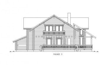 Dřevostavba z masivu RIVER HOUSE nákres