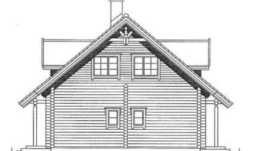 Dřevostavba z masivu SALIX nákres