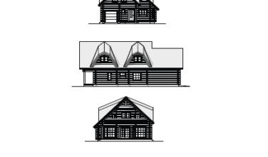 Dřevostavba z masivu ZINNIA 2D model