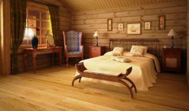 Dřevostavba z masivu LINARIA interiér ložnice