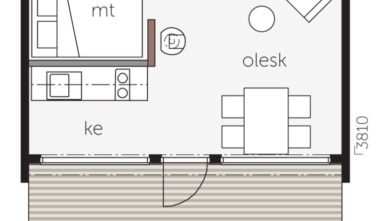 Dřevostavby Kontio Glass House 25C půdorys