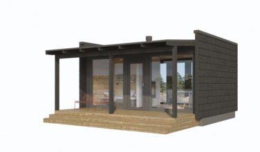 Dřevostavby Kontio Glass House 25D 2