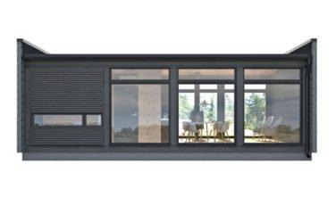Dřevostavby Kontio Glass House 50 s převahou prosklení