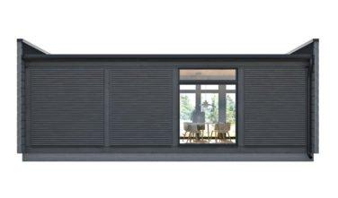 Dřevostavby Kontio Glass House 50 s převahou obložení