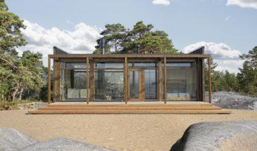 Srubové domy KONTIO Glass house exteriér2
