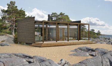 Srubové domy KONTIO Glass house exteriér3