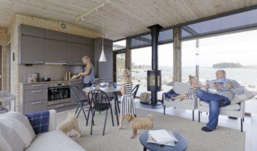 Srubové domy KONTIO Glass house kuchyně