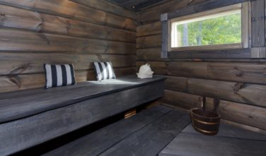 Srubové chaty KONTIO model Bella finská sauna