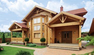 Srubové domy KONTIO model Ulmus přírodní lazura Elegance