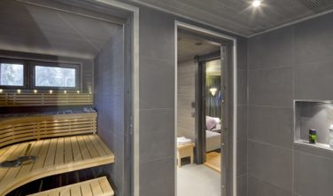 Sauna je tradiční součástí finských srubů KONTIO