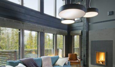Katedrálový strop charakteristický rys pro srubové domy KONTIO