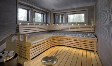 Ve finském srubu KONTIO nemůže chybět finská sauna