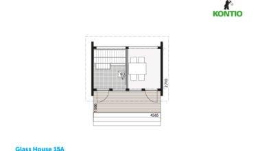 Kontio sruby Glass house půdorys 15A