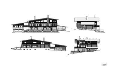 Srubové domy KONTIO - Villa Copperhill 2D model - 2