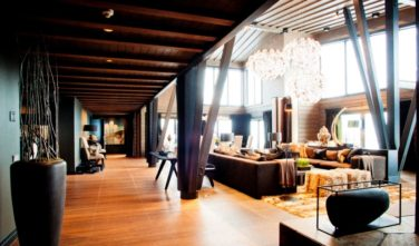 Luxusní srubový dům KONTIO - Mountain ski house - přízemí