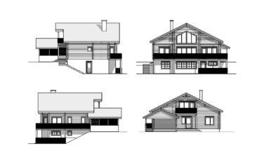 Luxusní srubový dům KONTIO 2D vizualiace