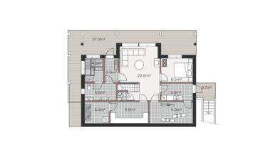 Luxusní srubový dům KONTIO půdorys suterén