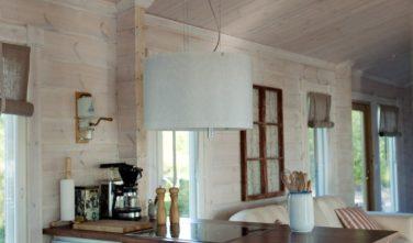 Srubové chaty KONTIO model Nalle-Duo kuchyňský kout