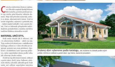 Srubové domy KONTIO v časopise Dům a bydlení 2