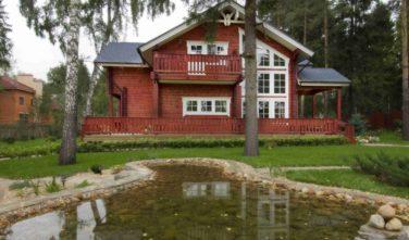 Srubové domy KONTIO model Ulmus faluňská červeň4