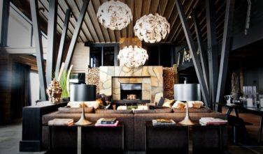Luxusní srubový dům KONTIO - Mountain ski house - lounge