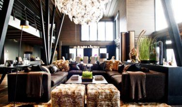Srubové domy KONTIO Villa Copperhill lounge