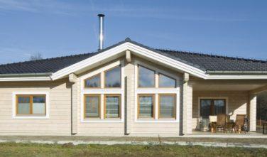 Srubový dům KONTIO z lepeného hranolu severské borovice