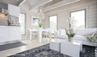 Sruby Kontio Nalle 30 interiér bílý