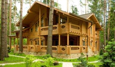 Luxusní srubový dům - dřevostavba z masivu Aster exteriér 2