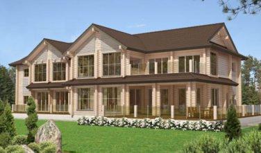 Luxusní srubový dům - dřevostavba z masivu Beta exteriér