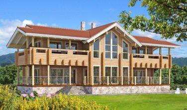 Luxusní srubový dům - dřevostavba z masivu Recreation house exteriér