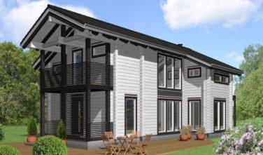 Srubový dům - dřevostavba z masivu Solida exteriér