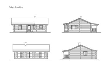 Rekreační srubový dům Salve 2D model