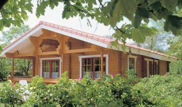 Rekreační srubový dům THUJA exteriér